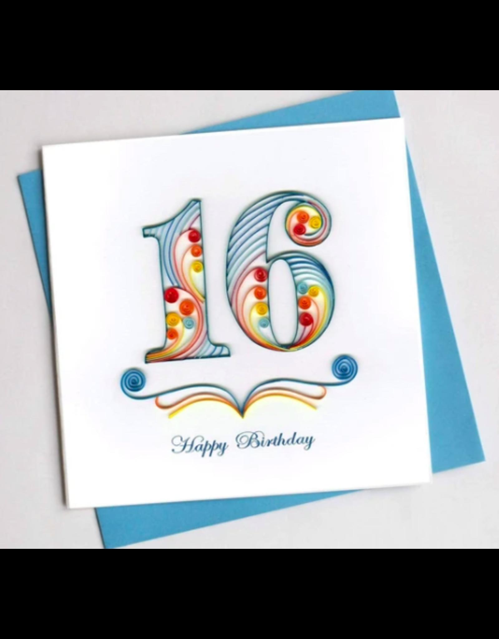 16th Birthday, Quilling Card, Vietnam