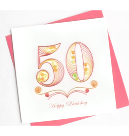 50th Birthday, Quilling Card, Vietnam