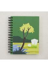 Large Notebook, Elephant on Green, Sri Lanka