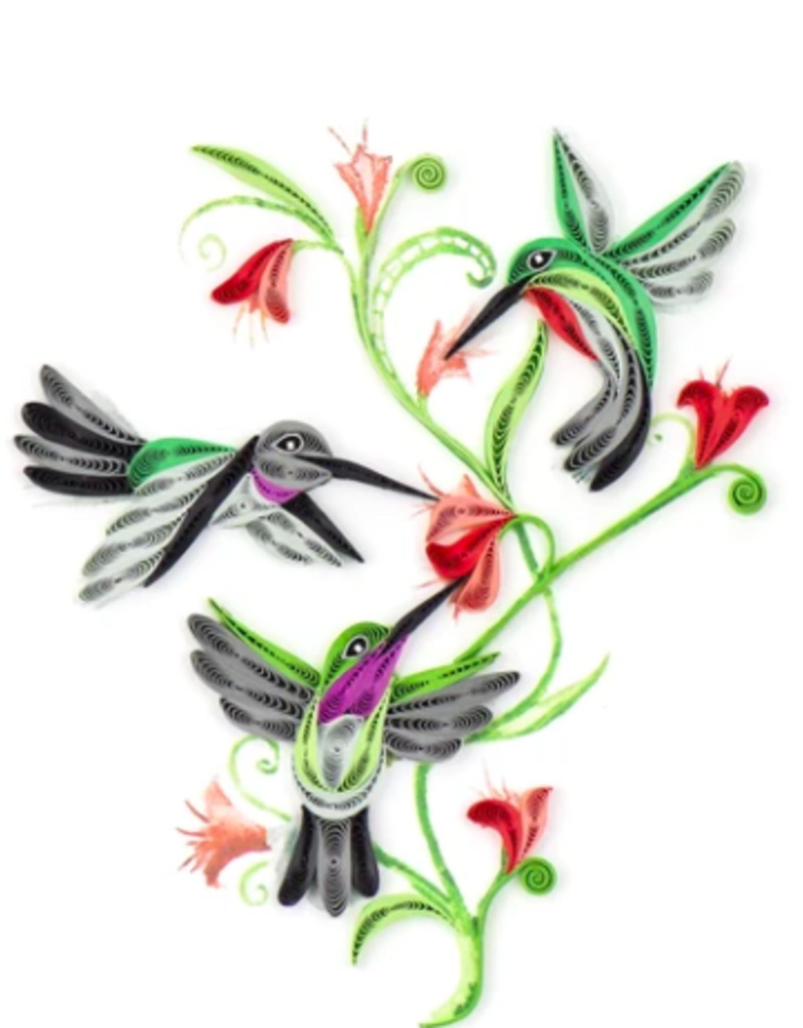Vietnam, Quilling Cards Hummingbird Trio