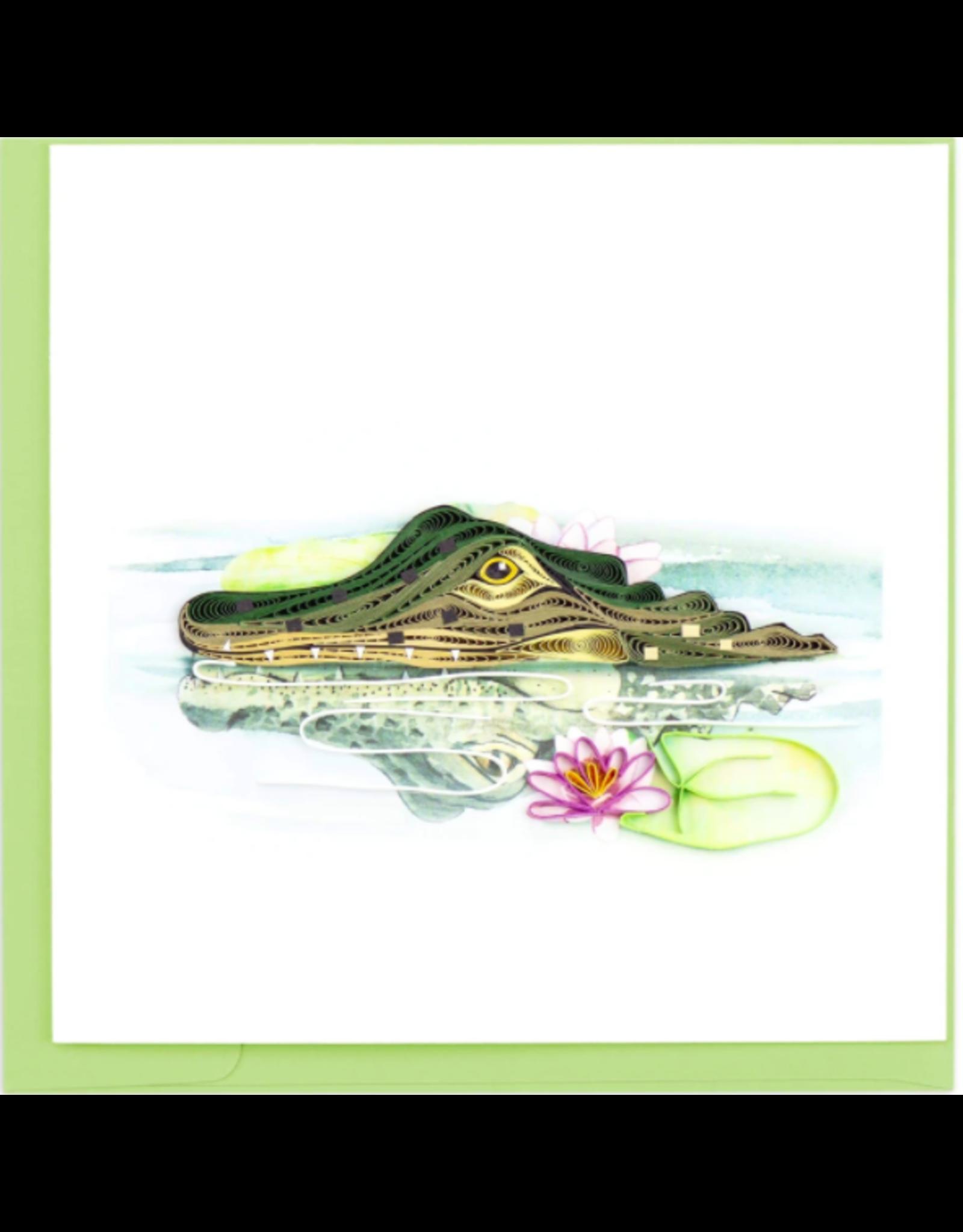 Vietnam, Quilling Cards Alligator
