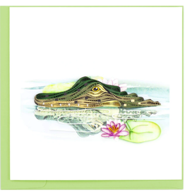 Vietnam, Quilling Cards Alligator