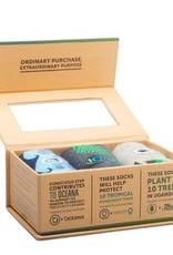 India, Conscious Socks Box Set  Protect Planet (Oceans, Rainforests, Trees) Large