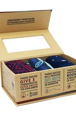 India, Conscious Socks Box Set  Hunger, Water, Books Small