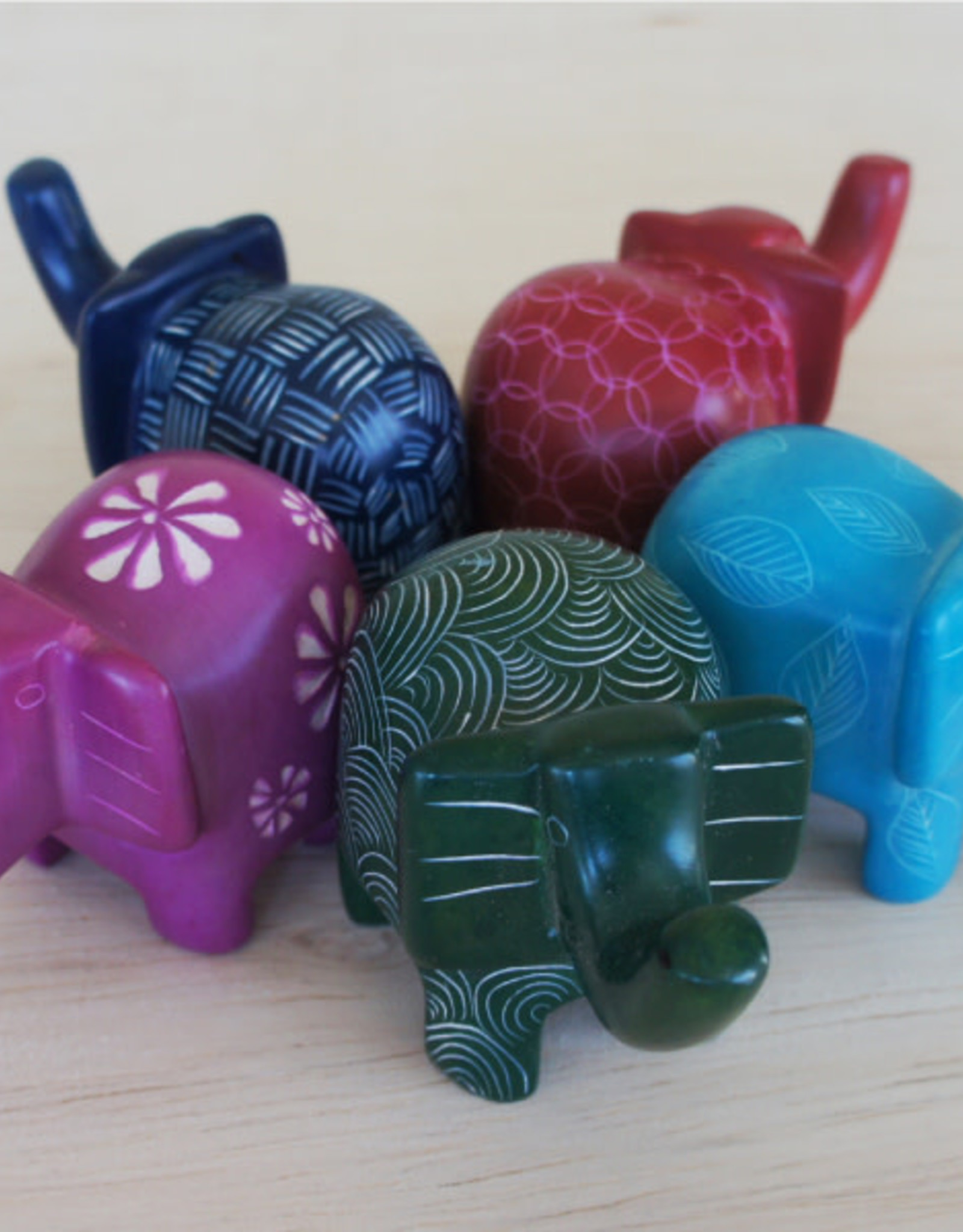 Bright Elephants Soapstone