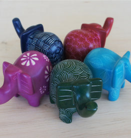 Bright Elephants Soapstone