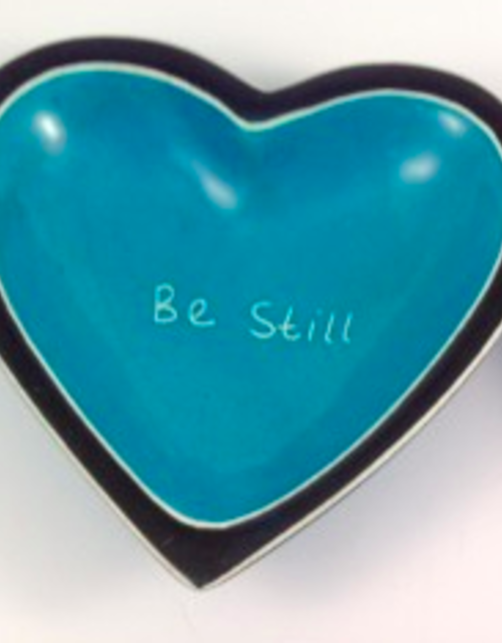 Be Still Heart Dish  Soapstone