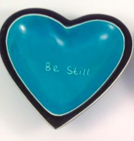 Be Still Heart Dish  Soapstone