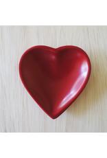 Small Red Heart  Soapstone Dish, Kenya