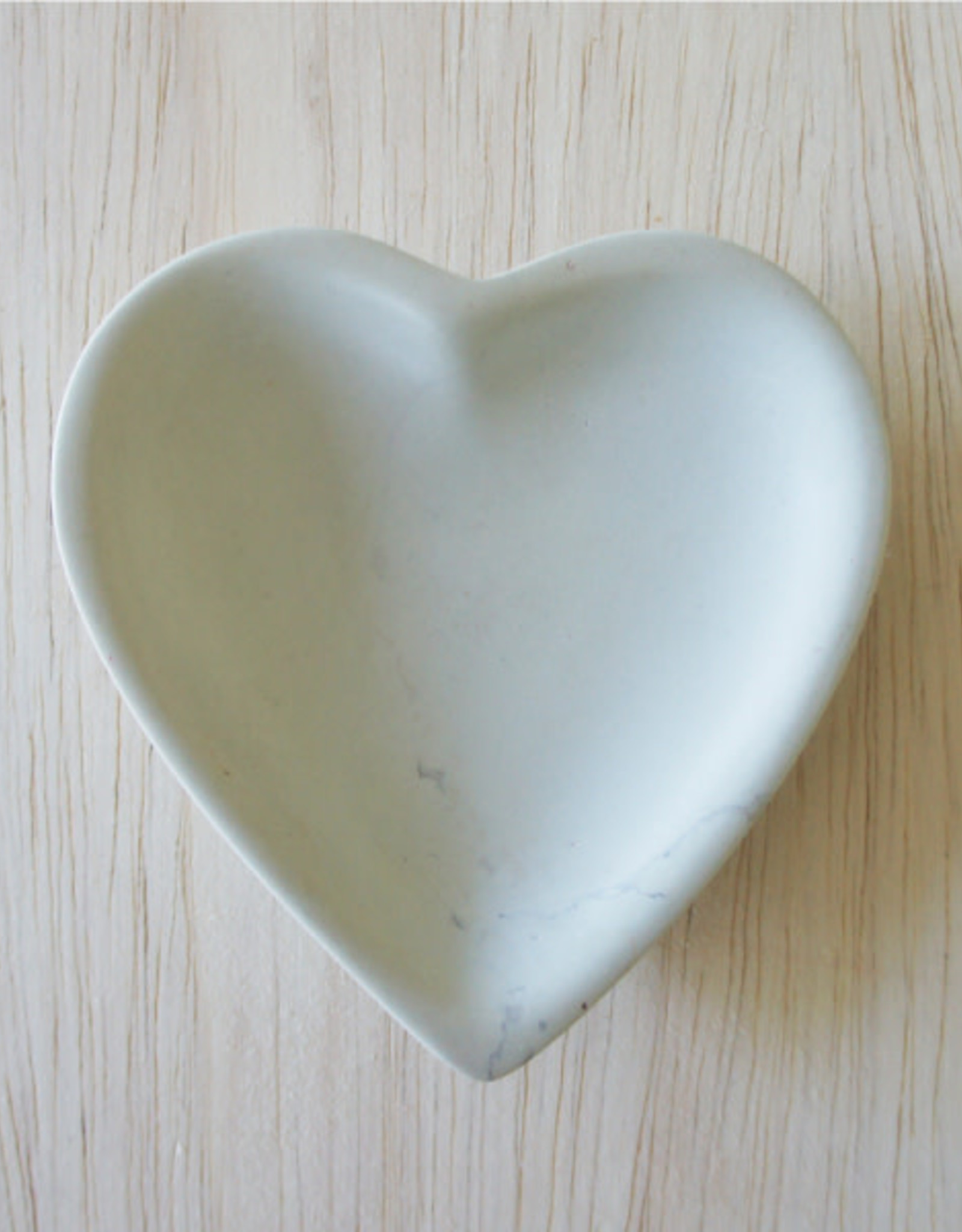 Kenya, Soapstone Small Heart Dish, Natural Stone