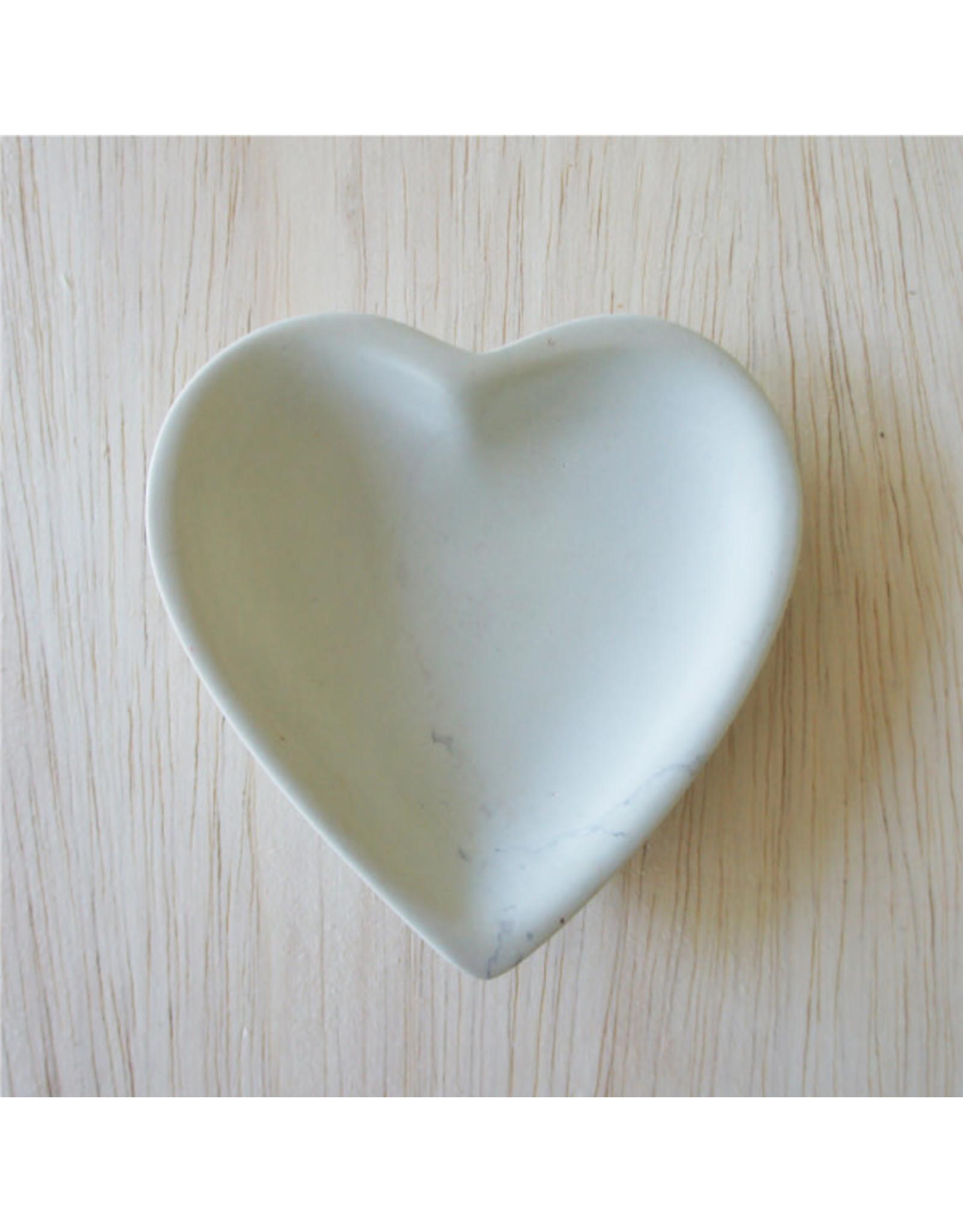 Small  Natural Soapstone Heart Dish,  Kenya