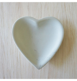 Small  Natural Soapstone Heart Dish,  Kenya