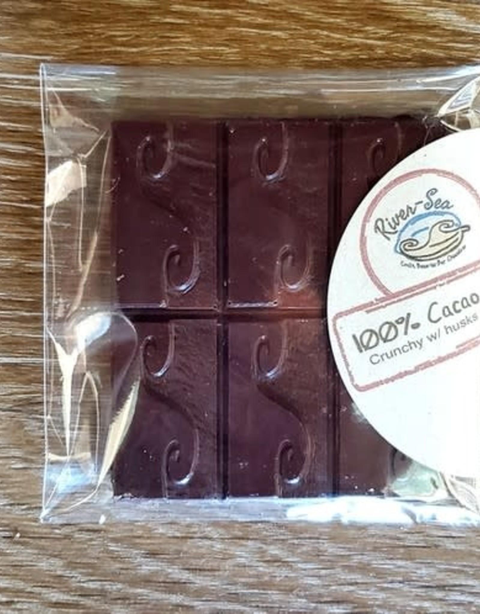 River-Sea Chocolate 100% Cocao Bar