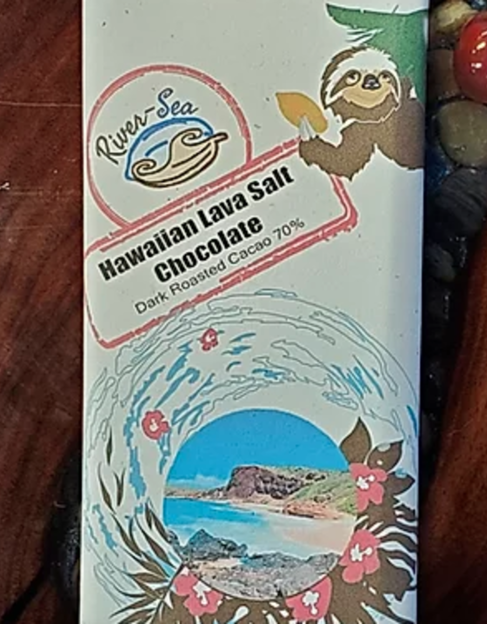River-Sea Chocolate Hawaiian Lava Salt 70%