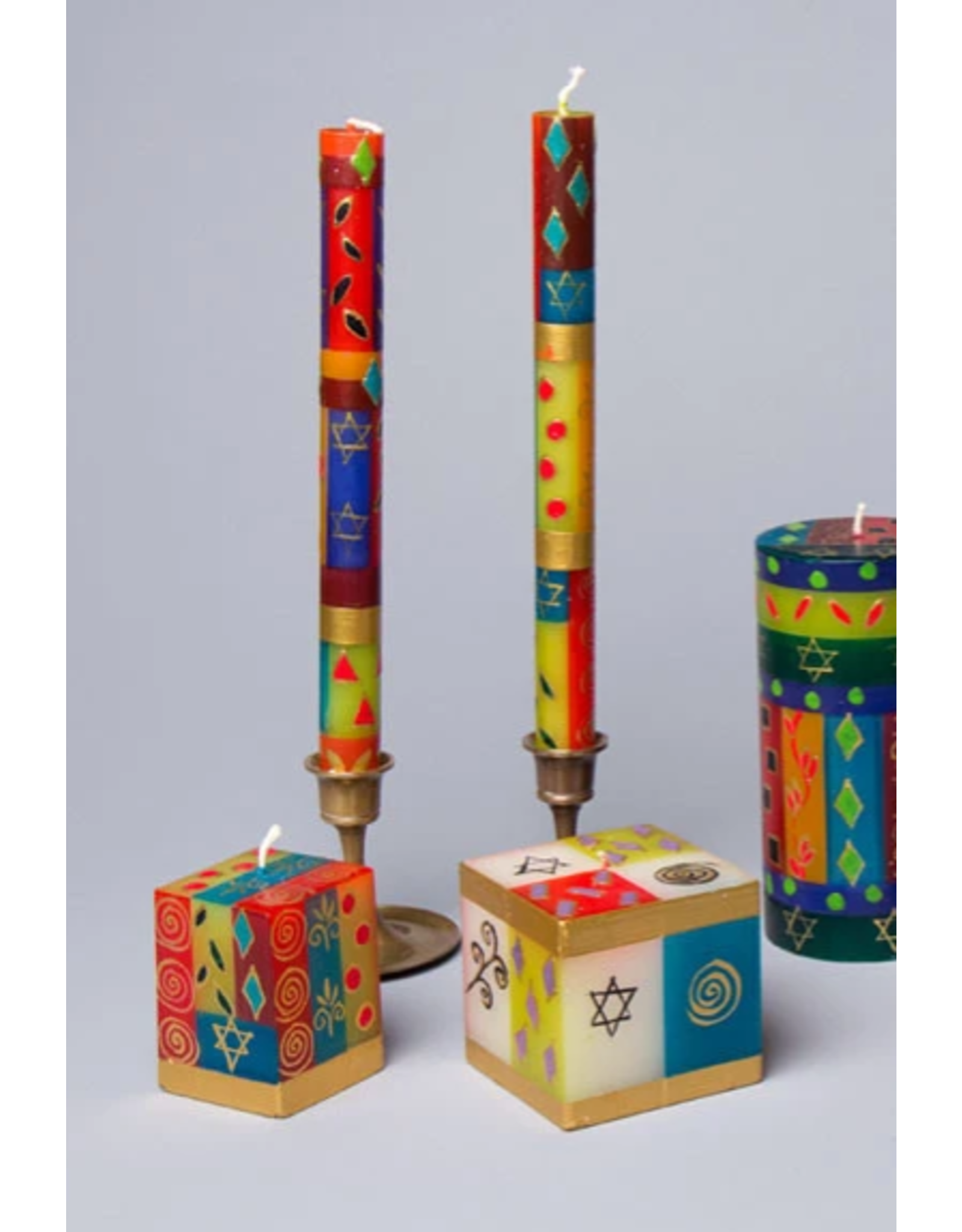 "South Africa, Taper Candles 4"" Set of 4 Judaica"
