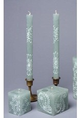 """South Africa, Pair Taper Candles 9"""" Henna Duckegg"""