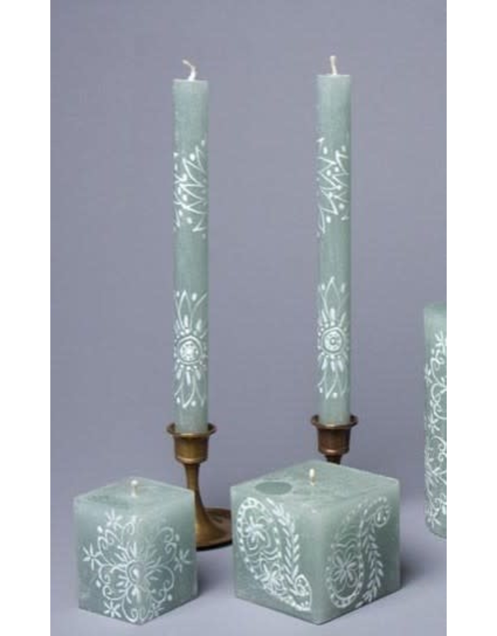 "Pair Henna Duckegg, Taper Candles 9"" South Africa,"