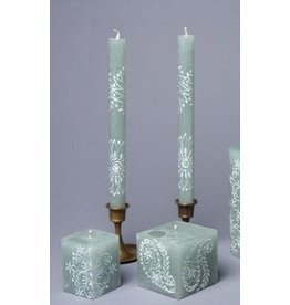 "South Africa, Pair Taper Candles 9"" Henna Duckegg"