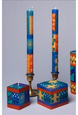 """South Africa, Pair Taper Candles 9"""" African Sky"""