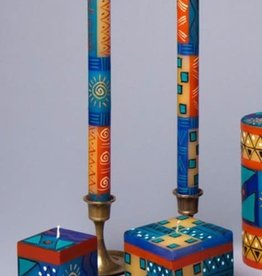 "South Africa, Pair Taper Candles 9"" African Sky"