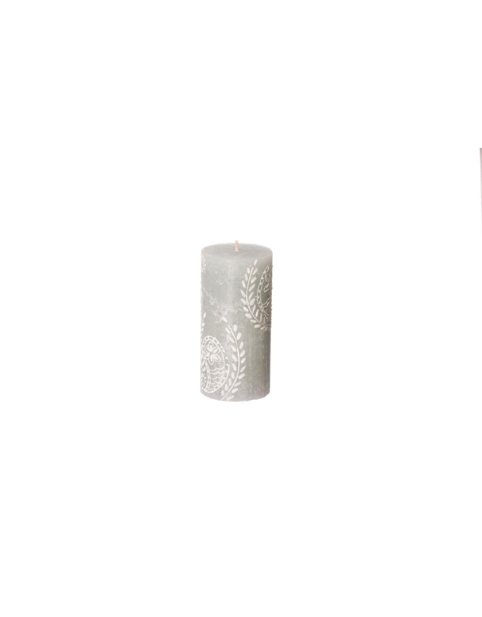 South Africa, Pillar Candle,  3 x 6 Duck Egg