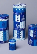 South Africa, Hamsa Votive Candles, Set of 6