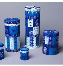 Hamsa Votive Candles, Set of 6, South Africa