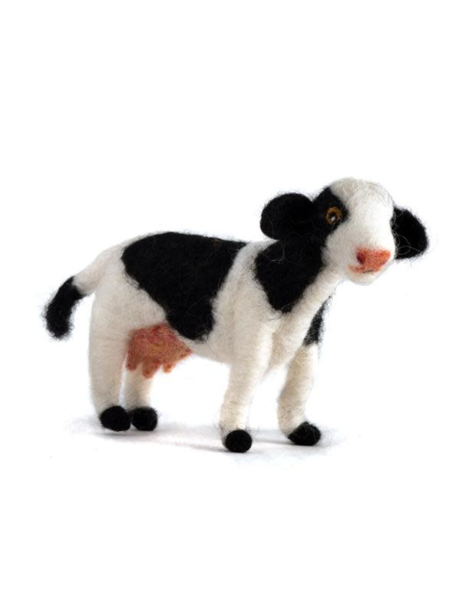 Felted Wool Animals Cow, Guatemala