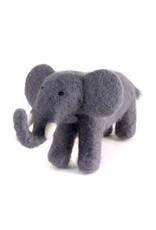 Felted Wool Animals Elephant, Guatemala