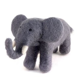 Guatemala, Felted Wool Animals elephant