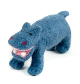 Guatemala, Felted Wool Animals Hippo