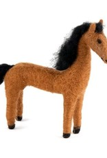 Guatemala, Felted Wool Animals Horse