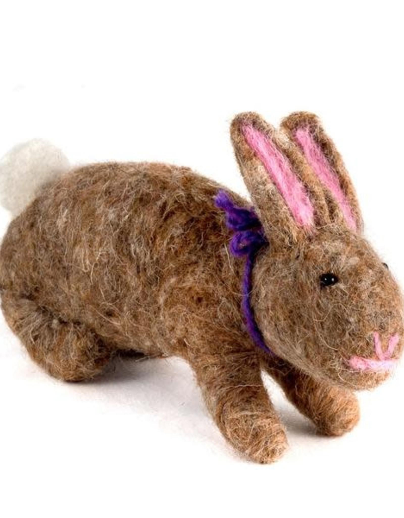 Felted Wool Animals Rabbit, Guatemala