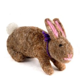 Guatemala, Felted Wool Animals Rabbit