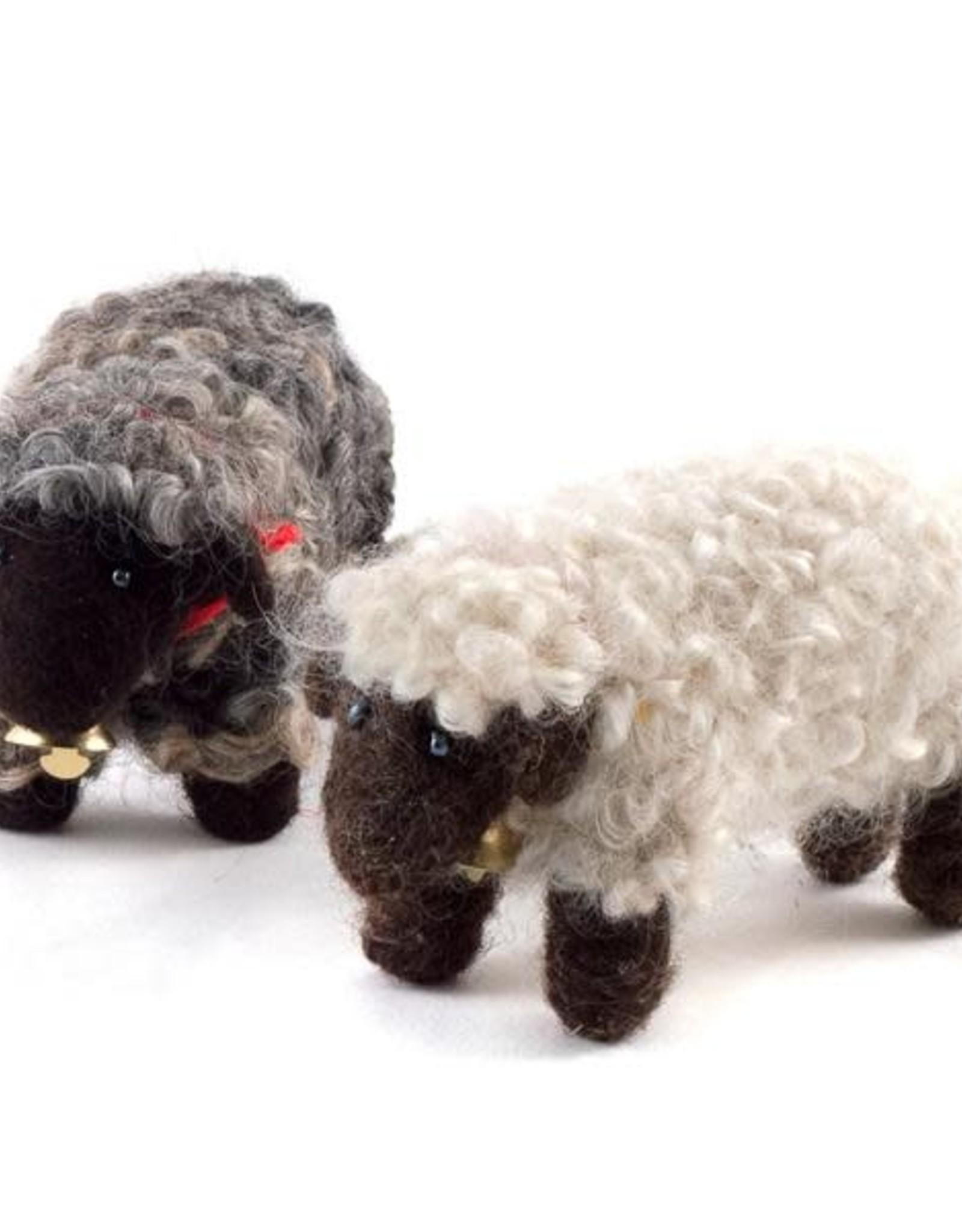 Felted Wool Animals Sheep, Guatemala