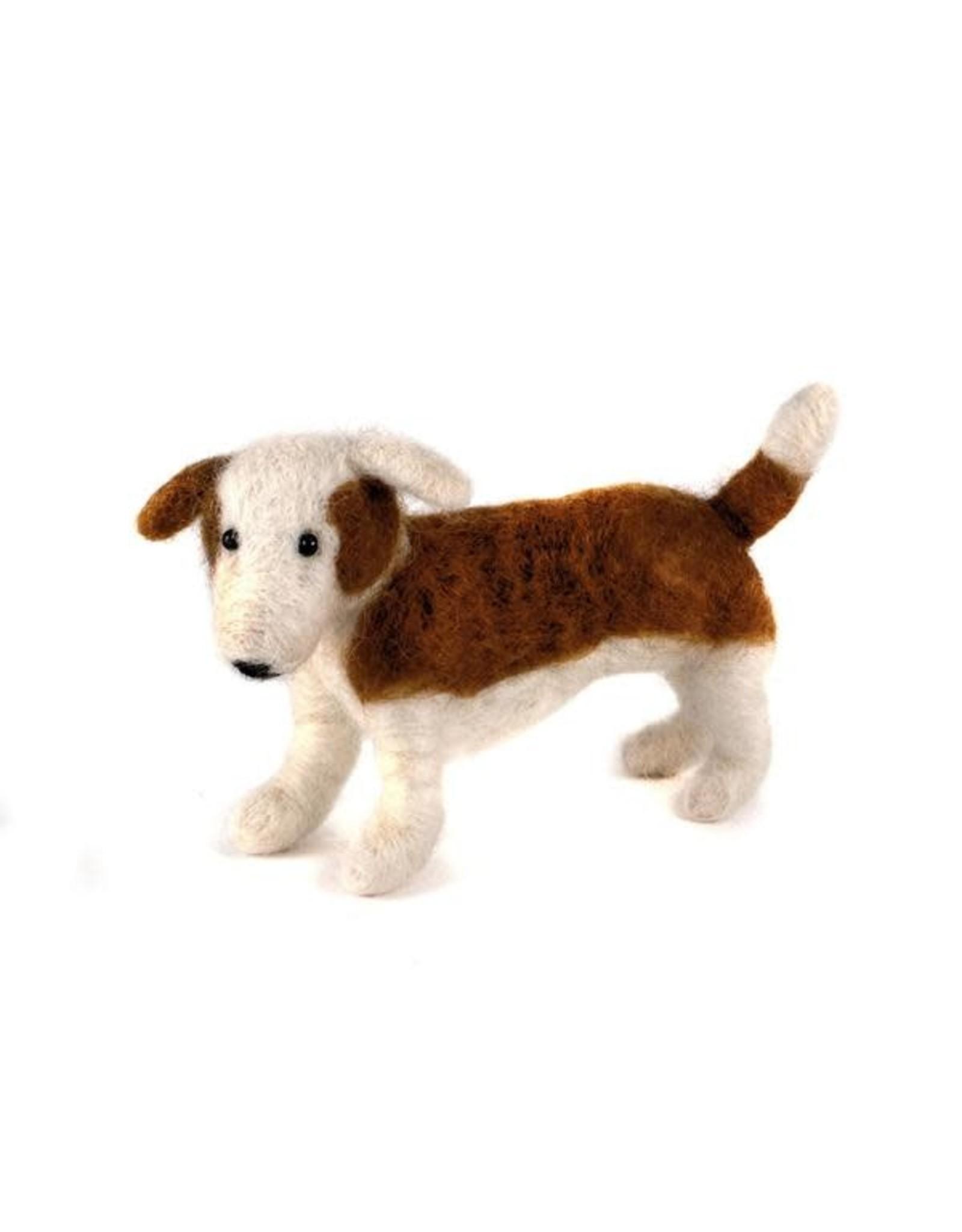 Felted Wool Animals Standing Dog, Guatemala
