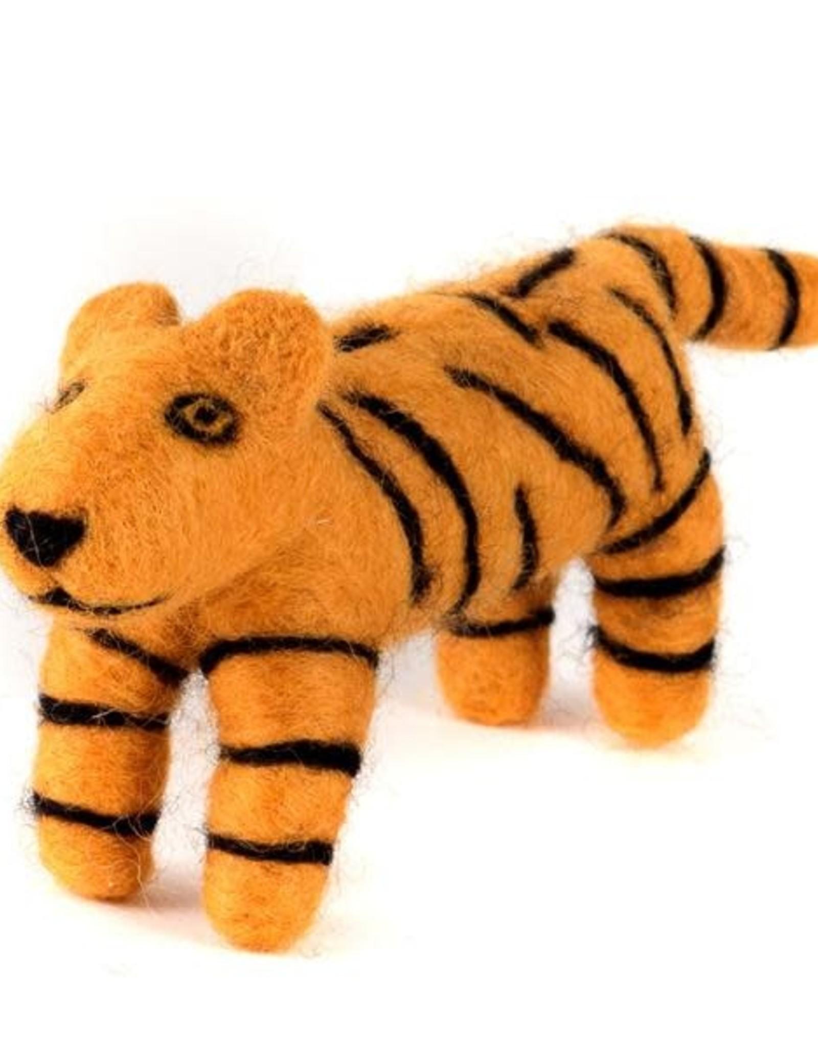 Felted Wool Animals Tiger, Guatemala