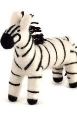 Felted Wool Animals Zebra, Guatemala