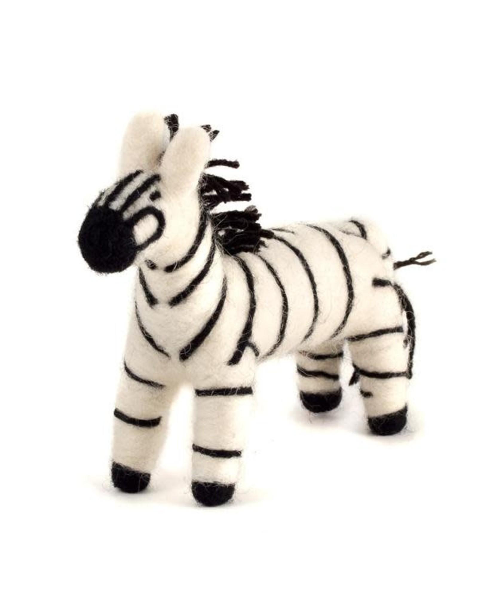 Felted Wool Animals, Zebra, Guatemala