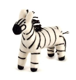 Felted Wool Animal, Zebra, Guatemala