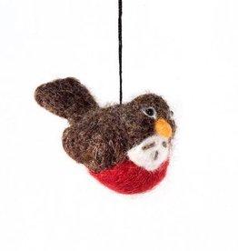 feb19 Guatemala, Felted Bird Robin