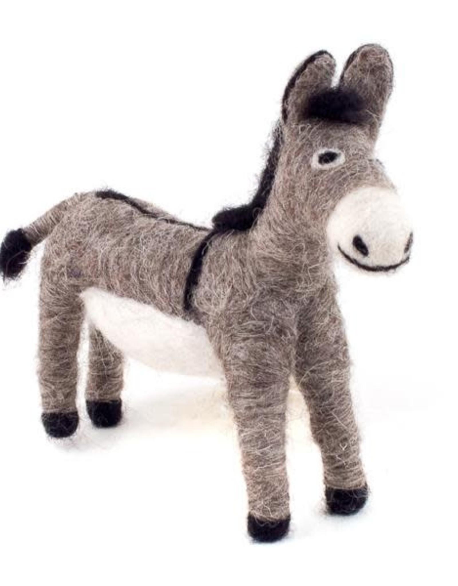 Guatemala, Felted Wool Animals Donkey