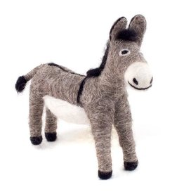 Guatemala, Felted Wool Animals Donkey
