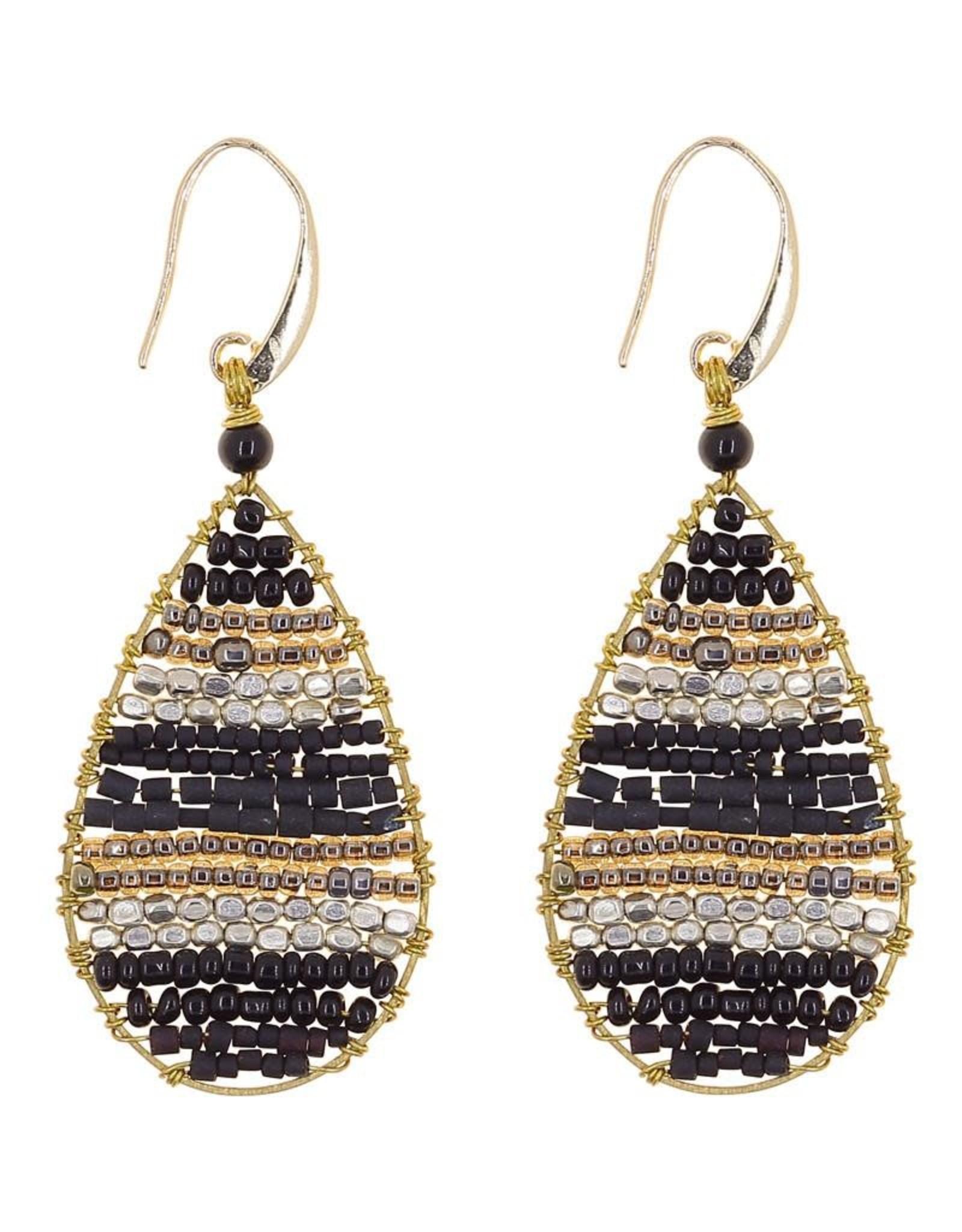 Akha Earrings- Lauren  Black