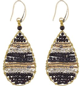 Akha Earrings- Lauren  Black