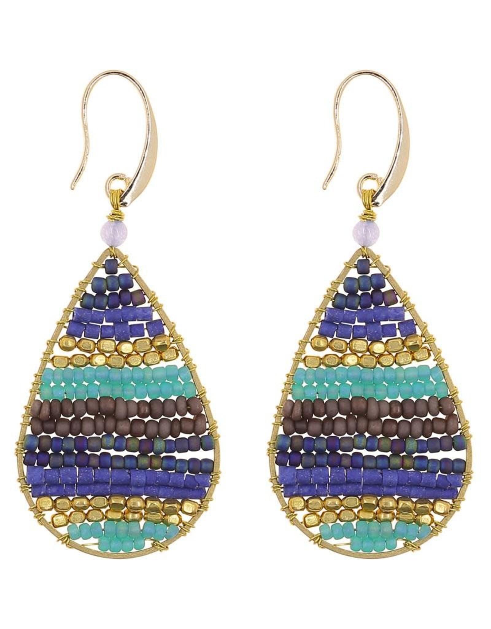 Akha Earrings- Lauren Blue