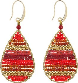 Akha Earrings- Lauren  Red