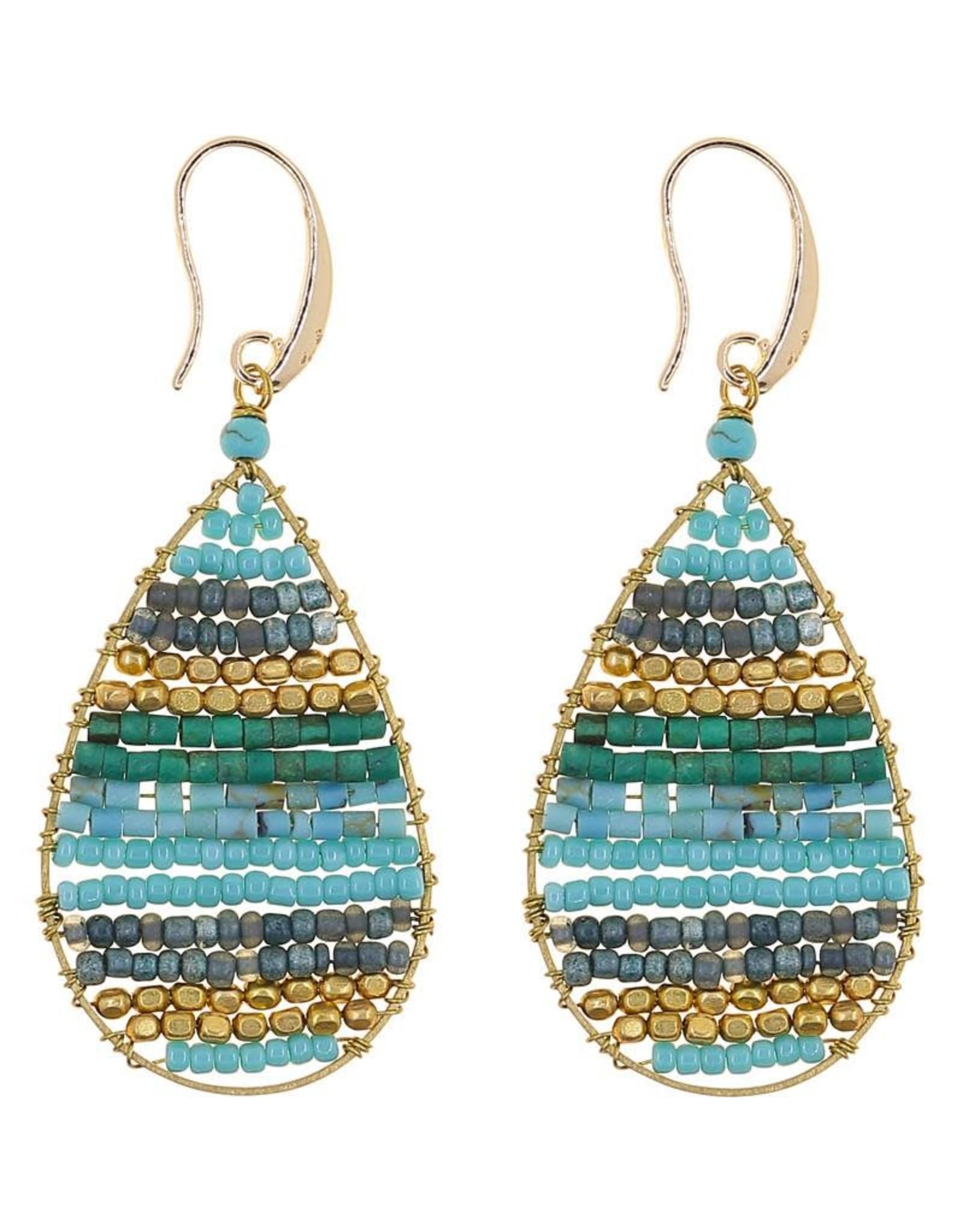 Akha Earrings- Lauren Turquoise