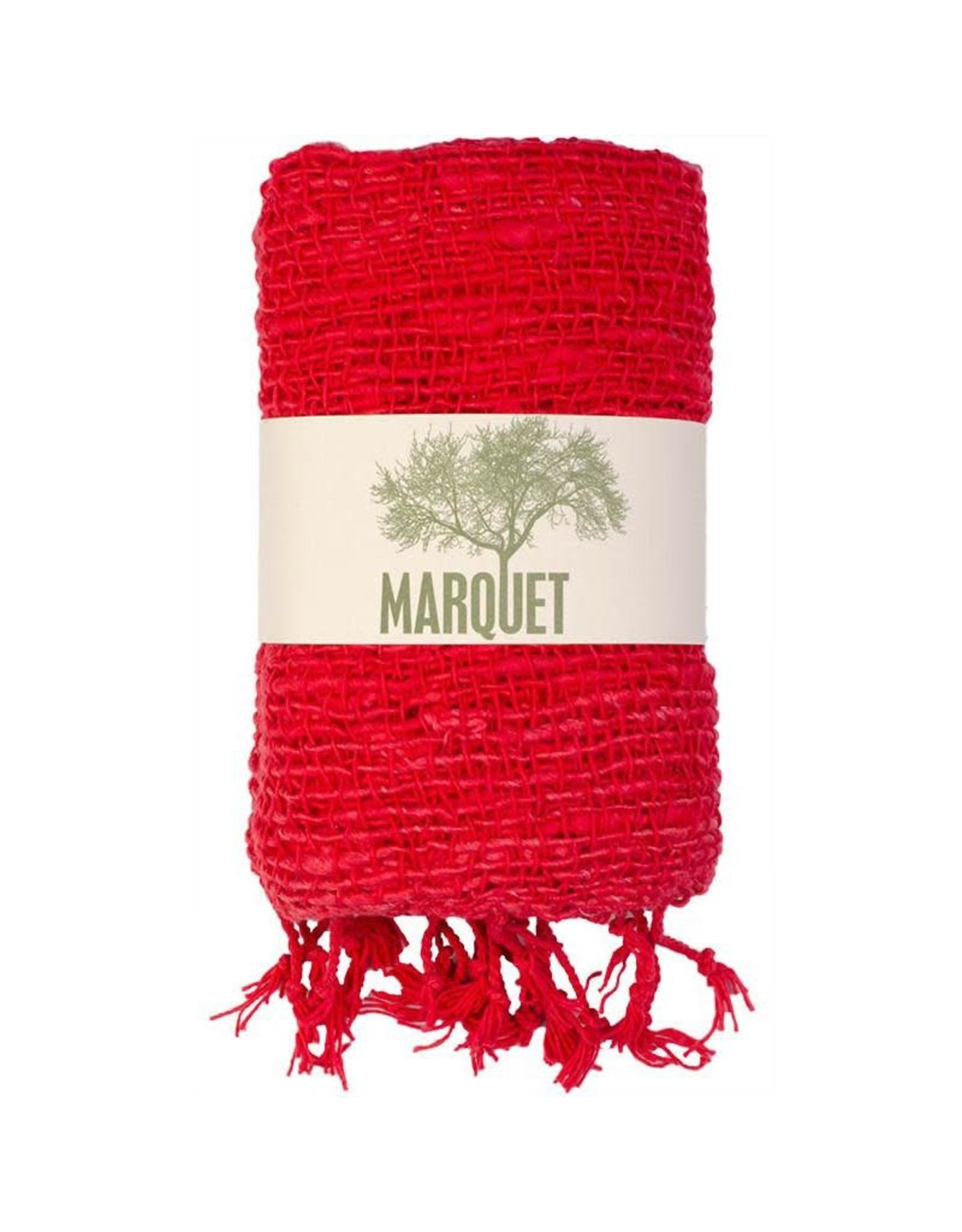 Thailand, Free Weave Cotton Scarf Coral