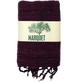 Thailand, Free Weave Cotton Scarf Mangosteen